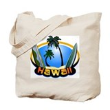 Hawaii Surf and Sand Retro Tote Bag