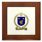 NADEAU Family Crest Framed Tile