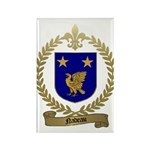 NADEAU Family Crest Rectangle Magnet