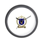 NADEAU Family Crest Wall Clock
