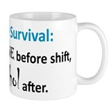 """Nurse Survival"" On Back of Small Mugs"