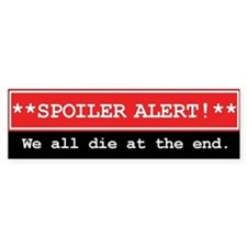 Spoiler Alert Word Nerd Bumper Car Sticker