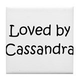 Cute Cassandra Tile Coaster
