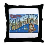 Philadelphia PA Throw Pillow