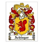 Achinger Family Crest Small Poster