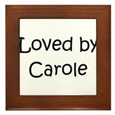 Cool Caroling kids Framed Tile