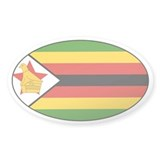 Zimbabwean stickers Oval Sticker (50 pk)