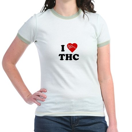 I Love [Heart] THC Jr Ringer T-Shirt