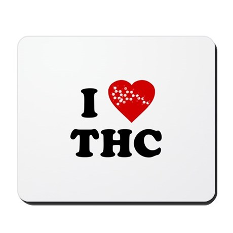 I Love [Heart] THC Mousepad