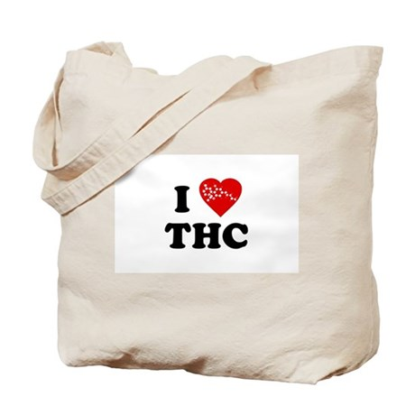 I Love [Heart] THC Tote Bag