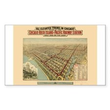Chicago Illinois Rectangle Sticker 10 pk)
