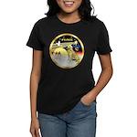 XmasDove/Golden #1B Women's Dark T-Shirt
