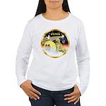 XmasDove/Golden #1B Women's Long Sleeve T-Shirt