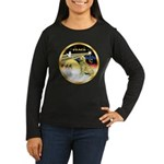 XmasDove/Golden #1B Women's Long Sleeve Dark T-Shi
