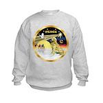 XmasDove/Golden #1B Kids Sweatshirt