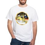XmasDove/Golden #1B White T-Shirt