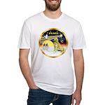 XmasDove/Golden #1B Fitted T-Shirt