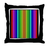 Colorful Ribbon Stripes Throw Pillow