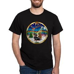 XmasMusic 3/2 Dachshunds Dark T-Shirt