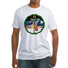 XmasSunrise/Vizsla Fitted T-Shirt