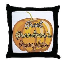 Great Grandma's Pumpkin Throw Pillow