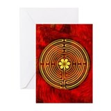 Chartres Labyrinth Fire Greeting Cards (Pk of 20)