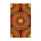 Chartres Labyrinth Fire Rectangle Decal