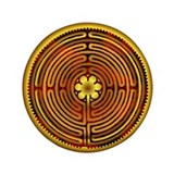 "Chartres Labyrinth Fire 3.5"" Button (100 pack)"