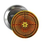 "Chartres Labyrinth Fire 2.25"" Button (100 pack)"