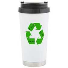 Puff Puff and Pass Recycle We Ceramic Travel Mug