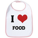 I Love Food Bib