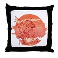 Funny The golden dragons Throw Pillow