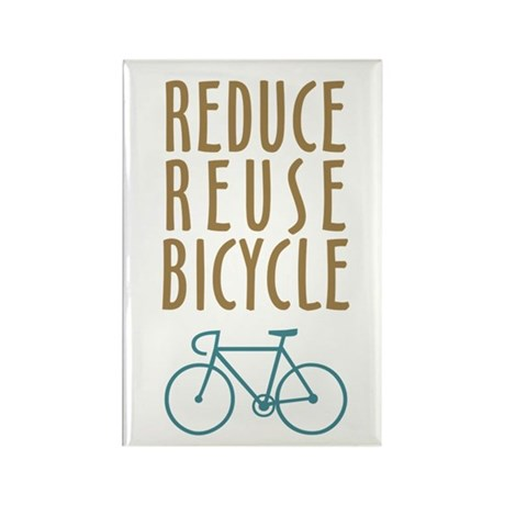 Reduce Reuse Bicycle Rectangle Magnet (100 pack)