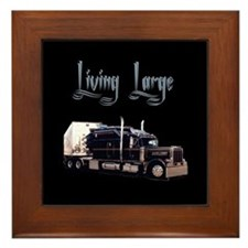 Cute Big rig Framed Tile
