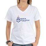The Space Elevator Reference Women's V-Neck T-Shir