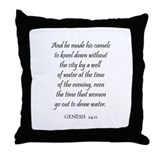 GENESIS  24:11 Throw Pillow