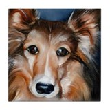 Sheltie Tile Coaster