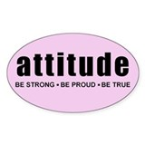Original Attitude Pink Oval Decal