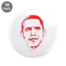 "Obama Line Portrait 3.5"" Button (10 pack)"