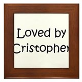 Cute Cristopher Framed Tile
