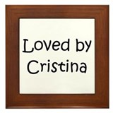 Cute Cristina Framed Tile