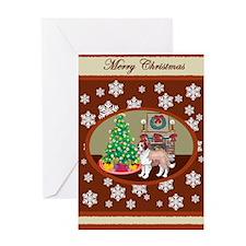 Classic St Bernard Greeting Card