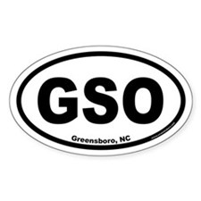 Greensboro GSO Euro Oval Decal