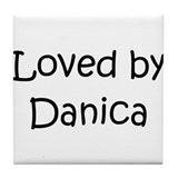 Cute Danica Tile Coaster