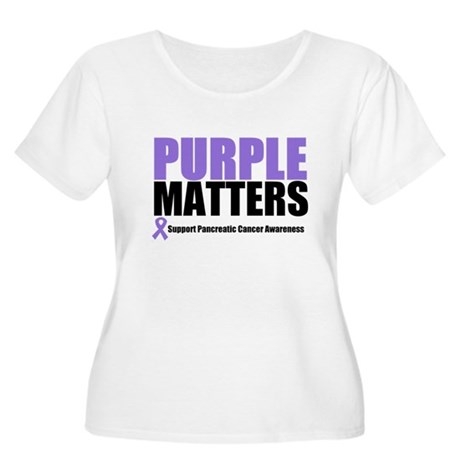 Pancreatic Cancer Women's Plus Size Scoop Neck T-S
