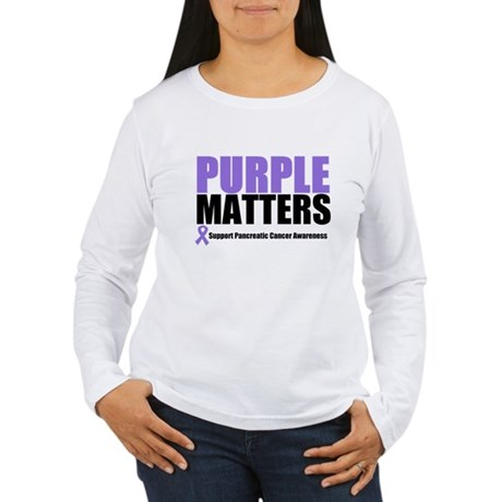Pancreatic Cancer Women's Long Sleeve T-Shirt