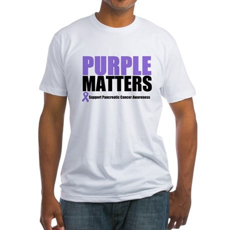 Pancreatic Cancer Fitted T-Shirt