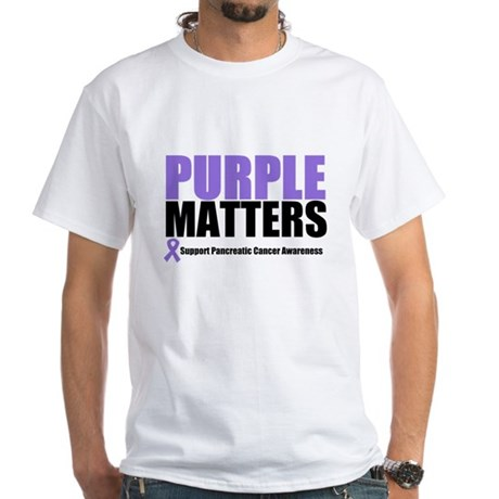 Pancreatic Cancer White T-Shirt