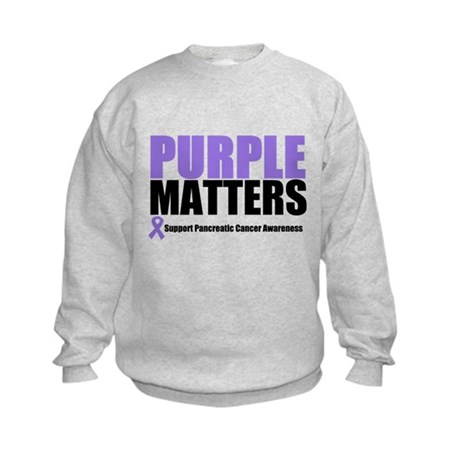 Pancreatic Cancer Kids Sweatshirt