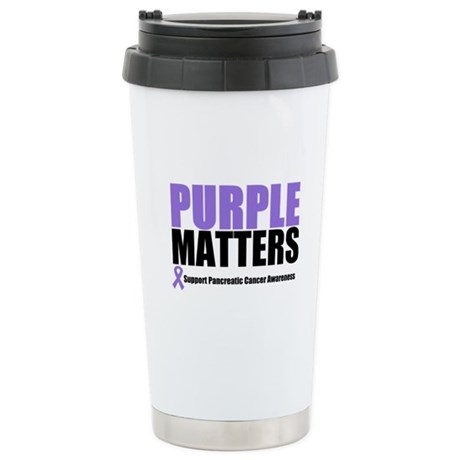 Pancreatic Cancer Ceramic Travel Mug